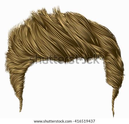 trendy stylish man hairs fringe