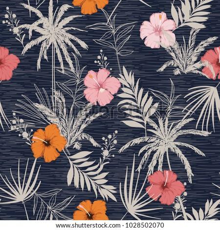 trendy summer hawaii print