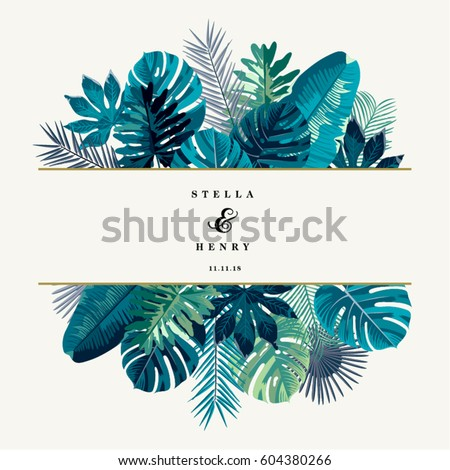 Shutterstock Trendy Summer Tropical Leaves Vector Design