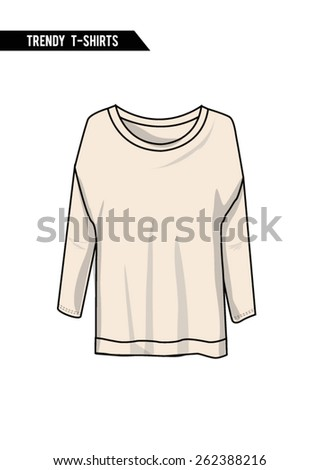 trendy t shirt long sleeve