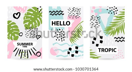 trendy tropic pattern covers