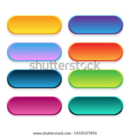 Trendy vector buttons for web design. Vector icons
