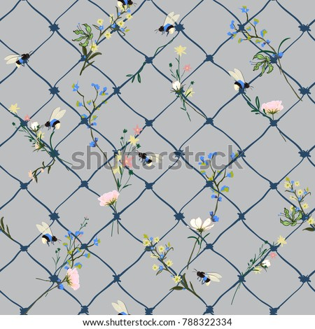 trendy vector seamless pattern
