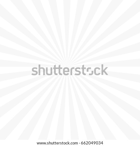 Trendy white background with sun rays
