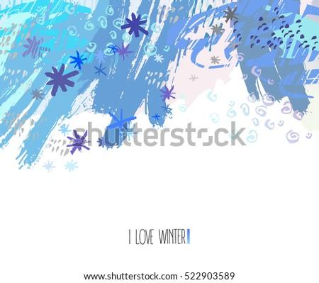 trendy winter artwork modern