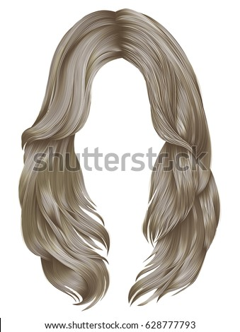 trendy woman long hairs blond