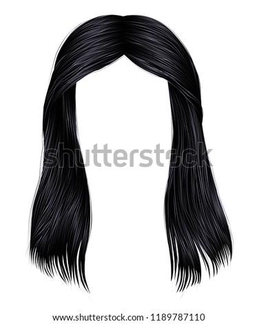 trendy woman long hairs