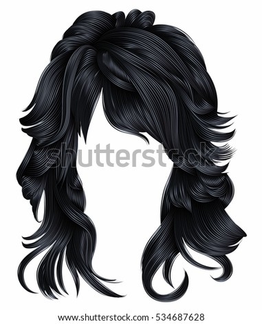 trendy woman long hairs