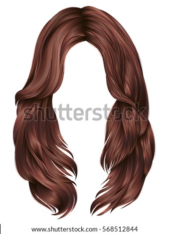 trendy woman long hairs red