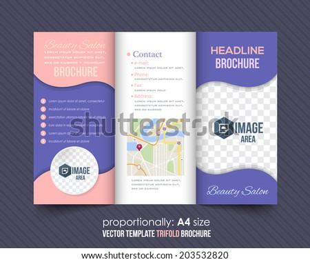 Business Trifold Broschüre Design mit abstrakten Formen - Kostenlose ...