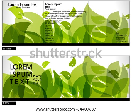 Tri fold brochure business cover design template. Vector Illustration