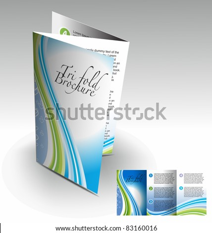 Tri-fold brochure design element, best used for your project.