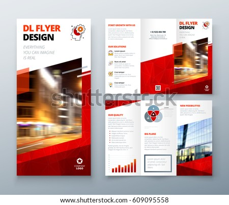 Free Tri Fold Brochure Vector Template - Download Free Vector Art