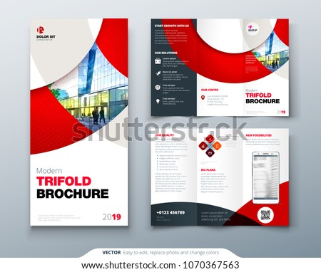 tri fold brochure design with