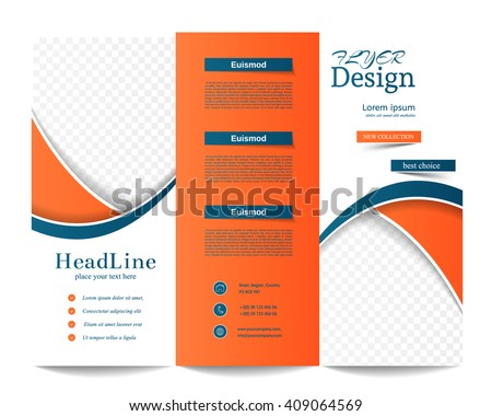 Free Tri Fold Brochure Vector Template Download Free Vector Art - Quad fold brochure template