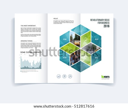 Modern Tri Fold Brochure Template Download Free Vector Art Stock