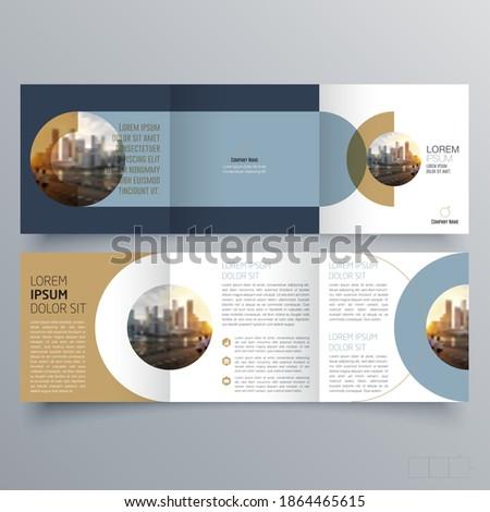 Tri-fold brochure template Minimalistic geometric design for corporate and business. Creative concept brochure vector template.