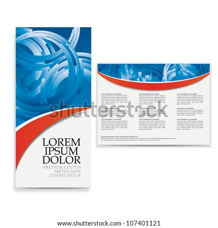 tri fold business brochure design
