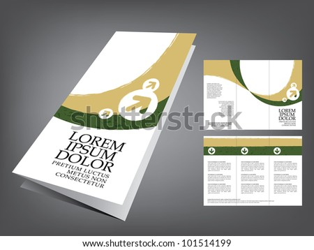 tri fold business brochure template