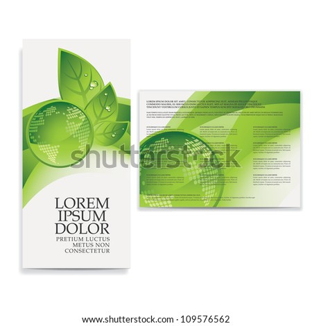 tri fold eco brochure template