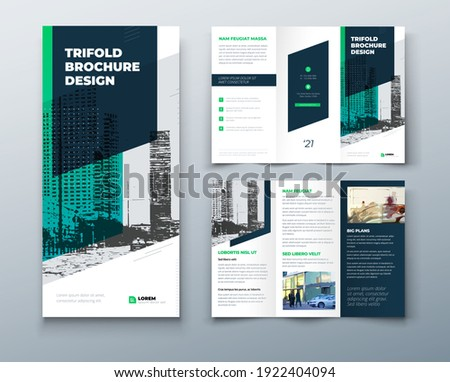 tri fold green brochure design