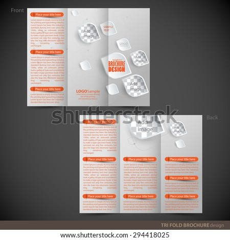 tri folder brochure leaflet mock up can be used as concept for