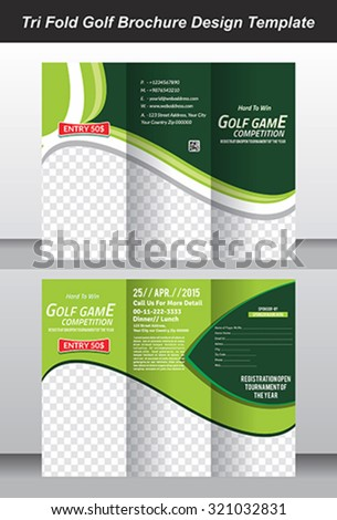 royalty free tri fold golf tournament mock up 151416278 stock