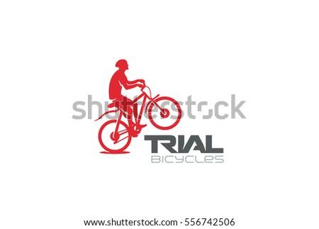 trial mountain bike rider