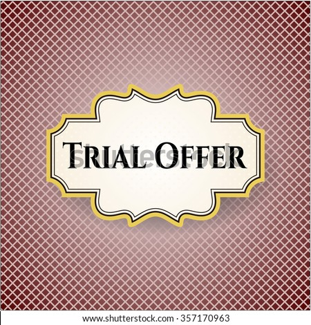 Trial Offer card or poster