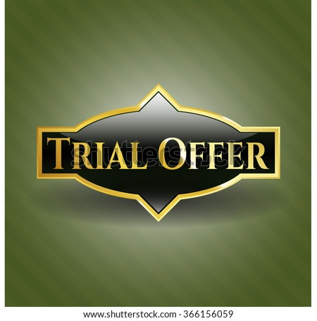 Trial Offer gold shiny badge