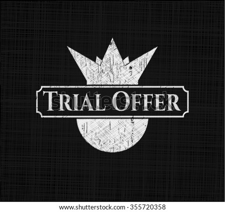 Trial Offer with chalkboard texture