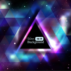 Triangle background with galaxy texture and place for text