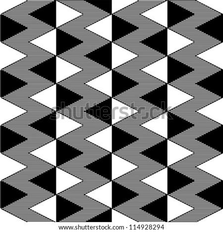 Triangle black and white seamless pattern