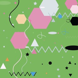 Triangle Blue Black Shadows Vector Illustration. Chaos Lines Polygon Ornamental Fabrics. Zigzag Calm Orange Pastel Grey Geometrical Art Illustration. Silver Oval Pink Green Modern Simple Hipster Art.