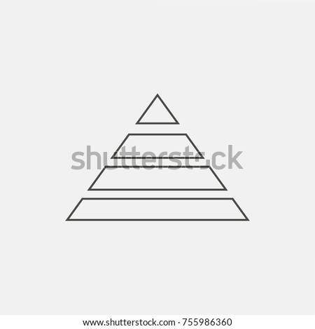 Triangle chart icon, vector