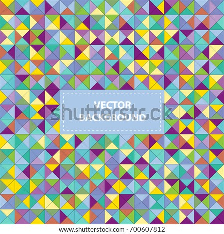 triangle color mosaic vector