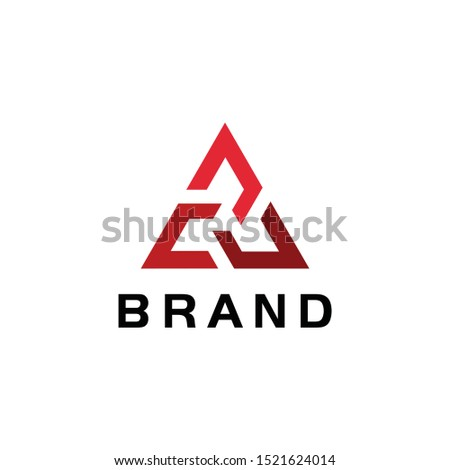 triangle concept vector, triangle logo template ready to use