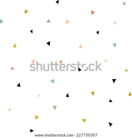 Triangle Confetti Background Pattern. Repeating Triangle Vector Pattern. Cute Triangle Vector Background