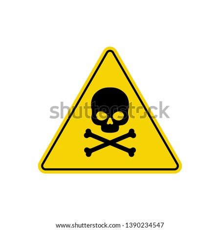 Triangle danger vector sign illustration isolated on white background