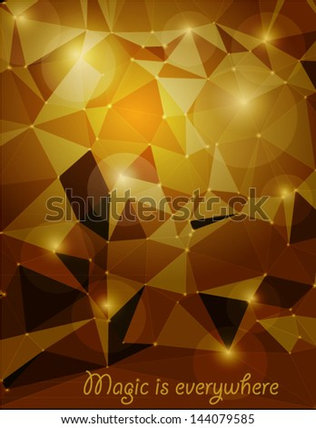 stock-vector-triangle-gold-background-shiny