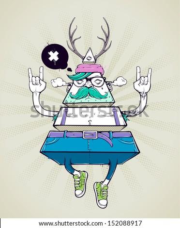 triangle hipster bizarre