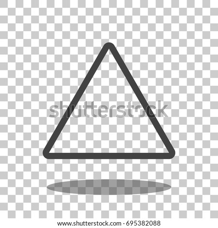 triangle icon vector isolated