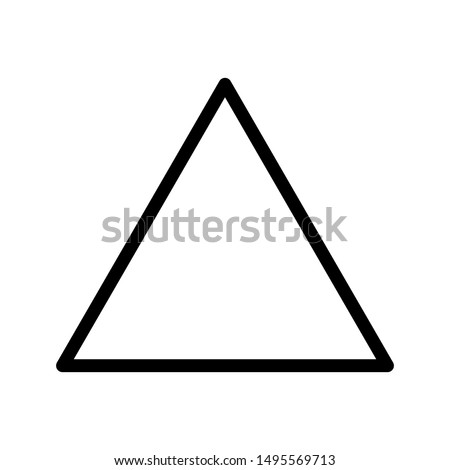 Triangle Icon Vector on white background. Flat and Trendy Sign Symbol Illustration. simple icon