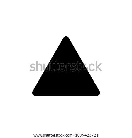 Triangle icon vector symbol sign