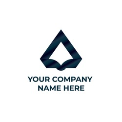Triangle logo design. Triangle luxury logo with blue color. innovative and simple logo design.
