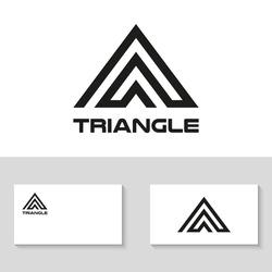 Triangle logo design. Vector