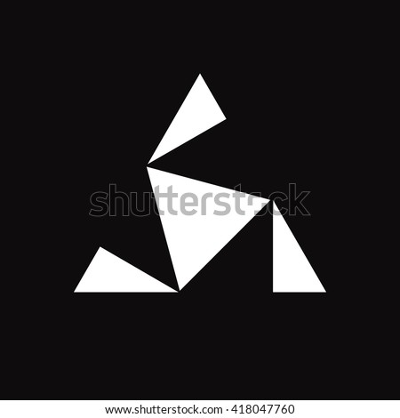triangle logo triskelion or