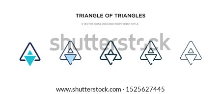 triangle of triangles icon in different style vector illustration. two colored and black triangle of triangles vector icons designed in filled, outline, line and stroke style can be used for web,