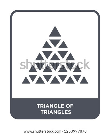 triangle of triangles icon vector on white background, triangle of triangles trendy filled icons from Geometric figure collection, triangle of triangles simple element illustration