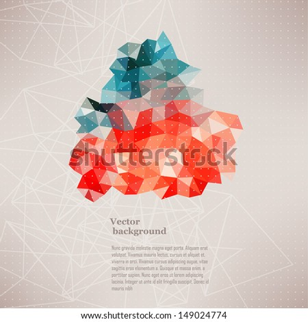 Triangle pattern background, triangle background, vector illustration with plenty space for your text